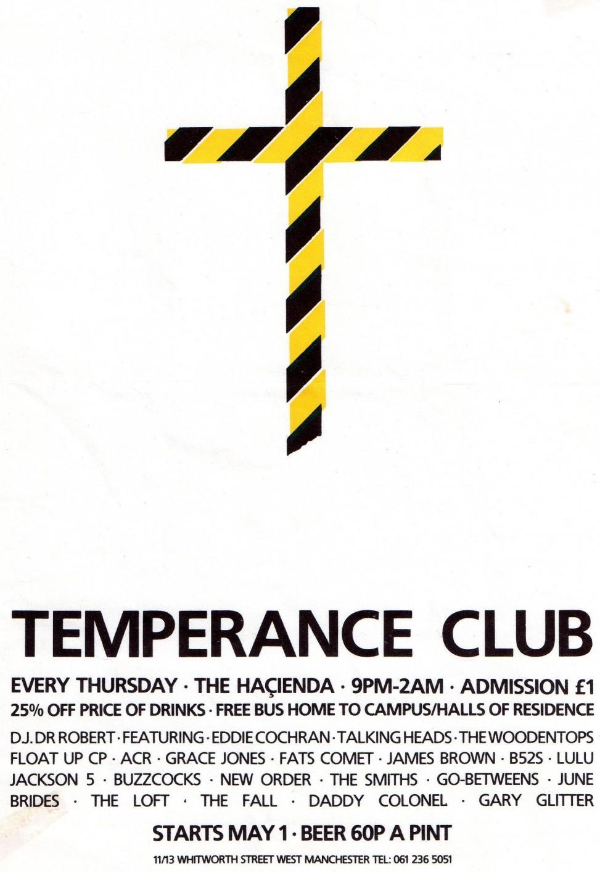 Temperance Club 1986…