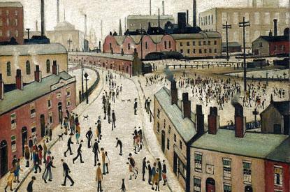 Factories, Lancashire - L. S. Lowry