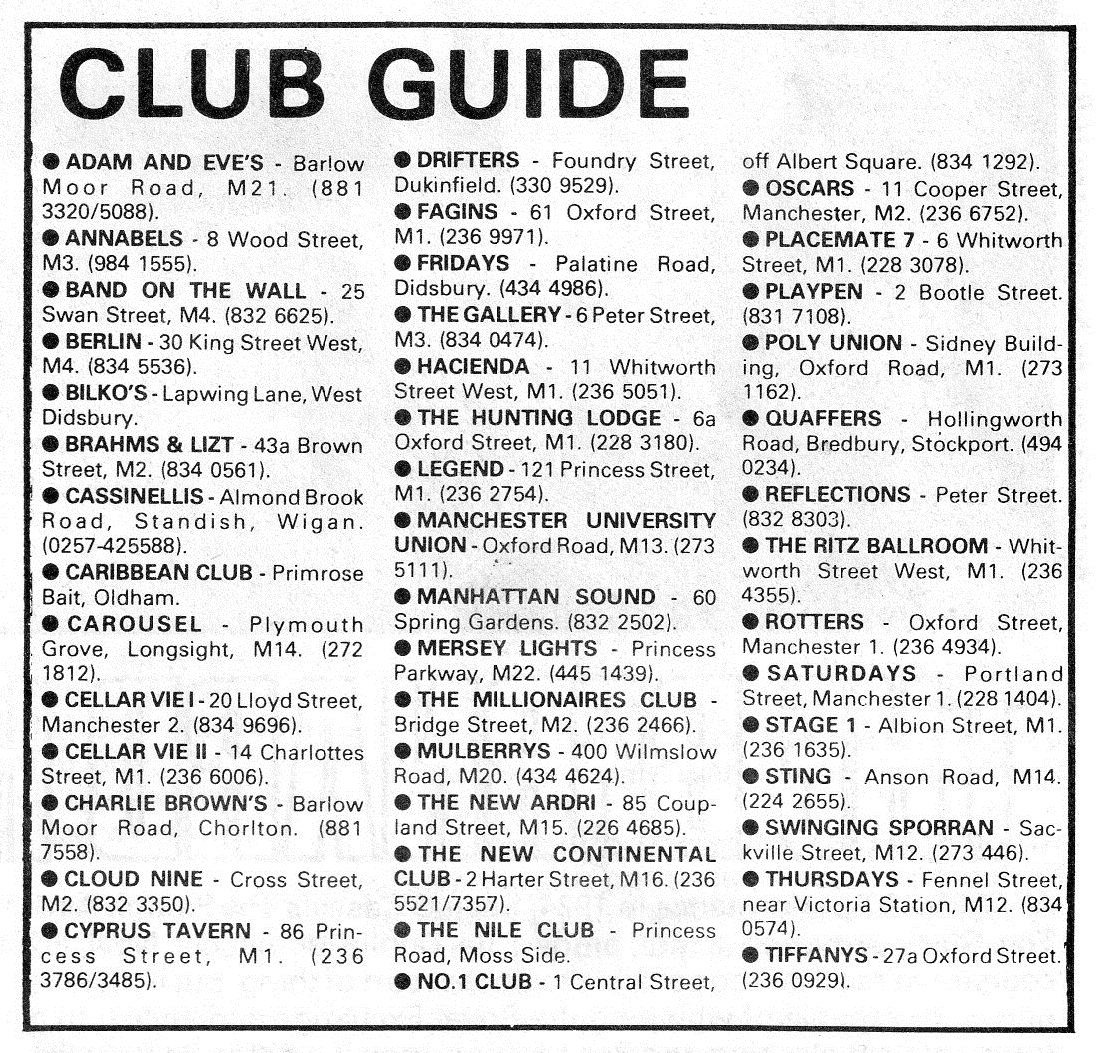 Manchester Clubland 1984