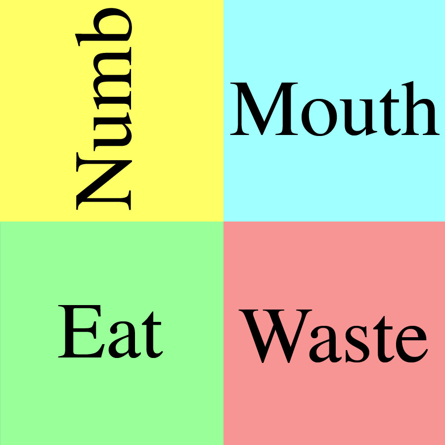 numb-mouth-eat-waste