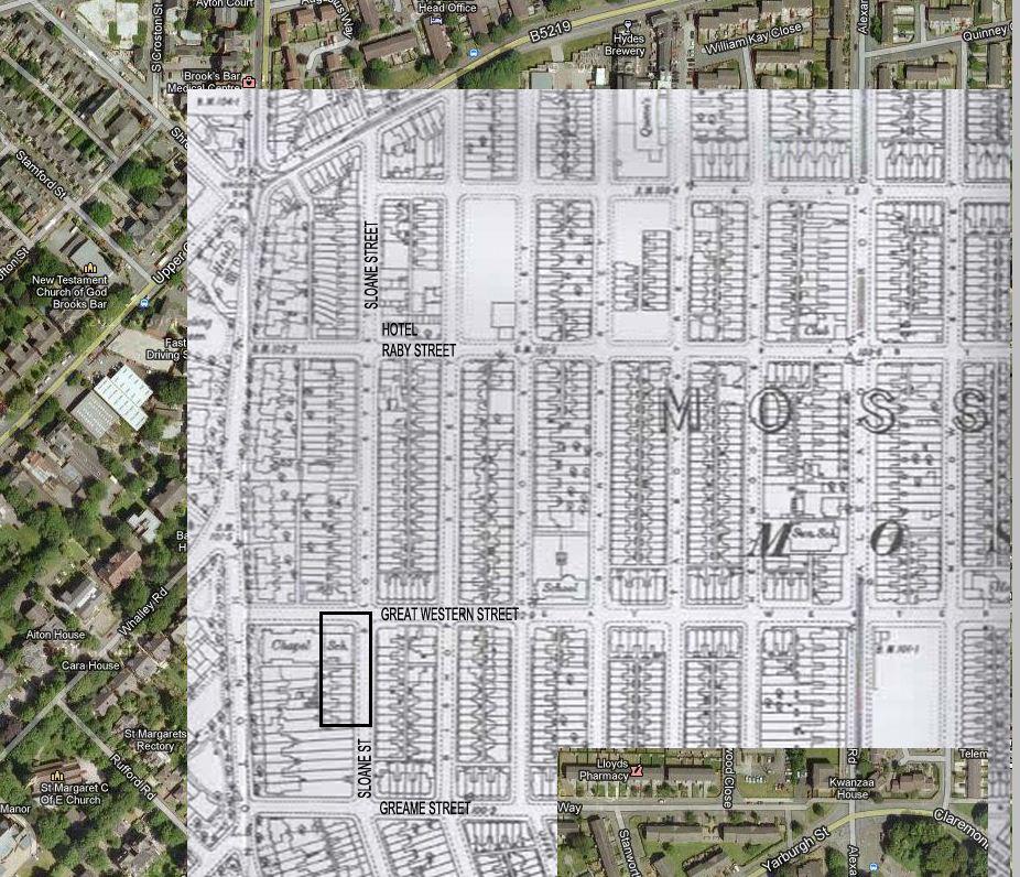 Google Map 2012 & Ordnance Survey Map 1893