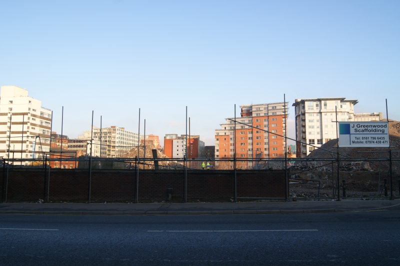 January 2013 - Looking across Oxford Road