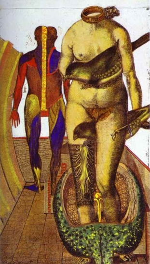 The Word Or Woman-Bird by Max Ernst