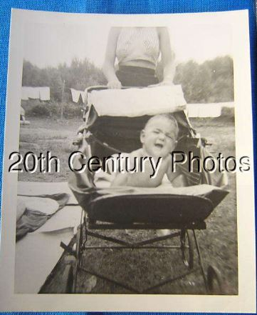 Unhappy Baby In Carriage, Headless Lady Behind for sale on Ebay